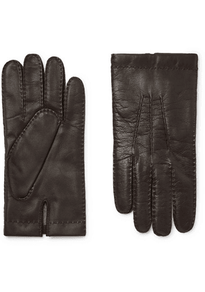 Dents - Shaftesbury Touchscreen Cashmere-lined Leather Gloves - Brown