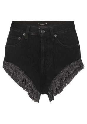 SAINT LAURENT - Distressed Denim Shorts - Black