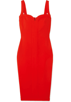Victoria Beckham - Paneled Cady Dress - Red