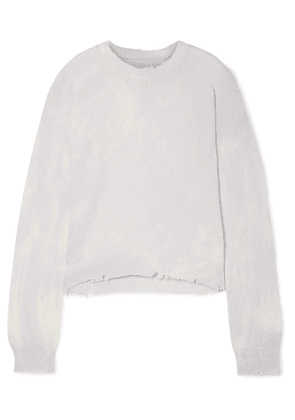 RtA - Emma Distressed Tie-dyed Cashmere Sweater - Ivory