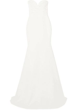 Alex Perry - Laura Strapless Crepe Gown - White