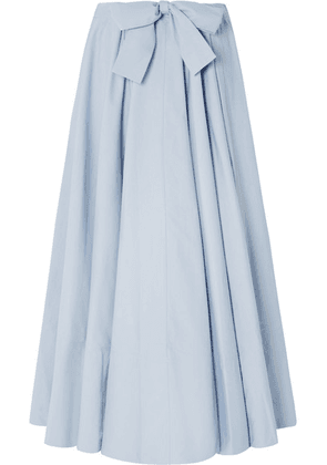 Co - Cotton-poplin Maxi Skirt - Light blue