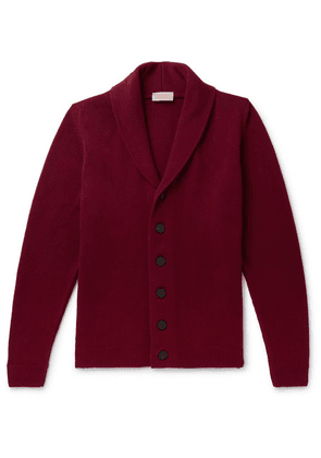 John Smedley - Patterson Shawl-collar Wool And Cashmere-blend Cardigan - Burgundy