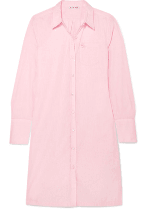 Alex Mill - Standard Shore Appliquéd Cotton-poplin Shirt Dress - Pink