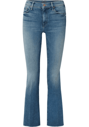 Mother - The Weekender Fray High-rise Flared Jeans - Blue