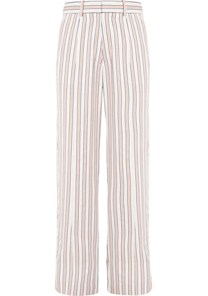 Victoria Beckham - Striped Crepe De Chine Pants - Ivory