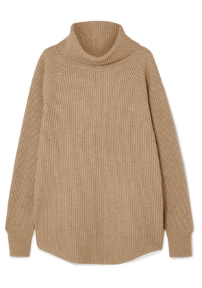 Co - Ribbed Wool And Cashmere-blend Turtleneck Sweater - Beige