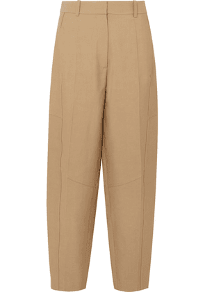 Victoria Beckham - Cotton-blend Canvas Tapered Pants - Taupe