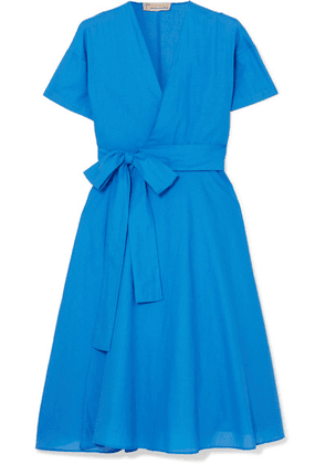 Esteban Cortázar - Cotton Wrap Midi Dress - Blue