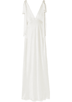 Les Rêveries - Silk-charmeuse Gown - Ivory