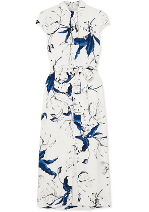 Erdem - Finn Floral-print Crepe Midi Dress - White