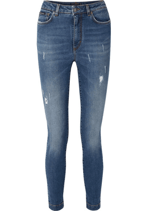 Dolce & Gabbana - Audrey Distressed High-rise Skinny Jeans - Blue