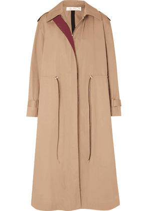 Victoria Beckham - Oversized Drawstring Cotton-blend Gabardine Trench Coat - Camel