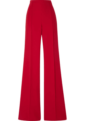 Andrew Gn - Crepe Wide-leg Pants - Red