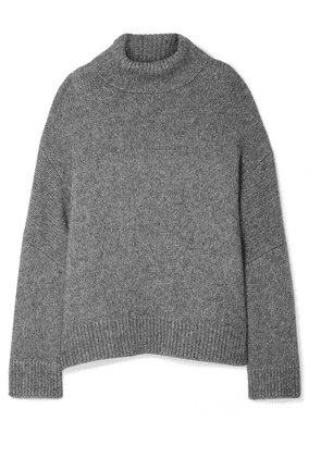 Co - Oversized Alpaca And Pima Cotton-blend Turtleneck Sweater - Gray