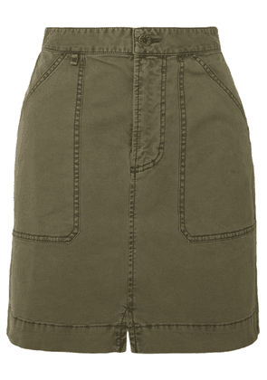 Alex Mill - Cotton-blend Twill Mini Skirt - Green