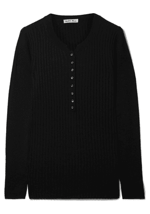 Alex Mill - Ribbed Wool-blend Top - Black