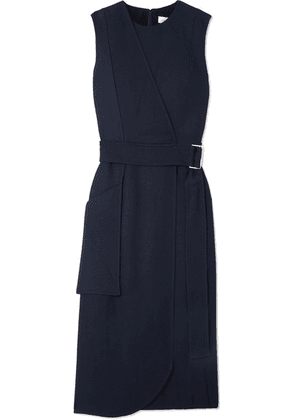 Victoria Beckham - Belted Crepe Midi Dress - Navy
