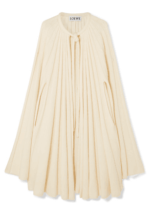 Loewe - Pleated Cashmere Cape - Ivory
