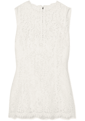 Dolce & Gabbana - Corded Lace Top - White