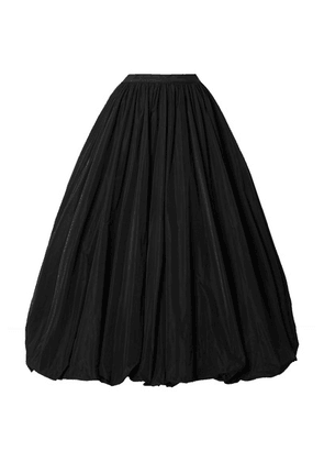 Co - Gathered Taffeta Midi Skirt - Black