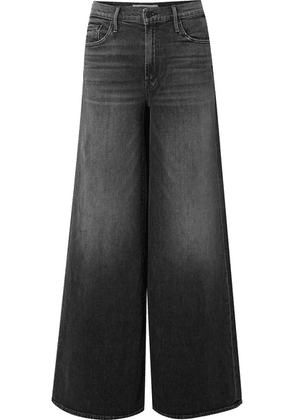 Mother - The Undercover High-rise Wide-leg Jeans - Anthracite