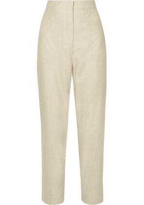 Fendi - Wool-blend Straight-leg Pants - Ivory