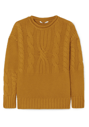 Agnona - Cable-knit Cashmere Sweater - Mustard