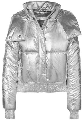Off-White - Metallic Shell Padded Jacket - Silver