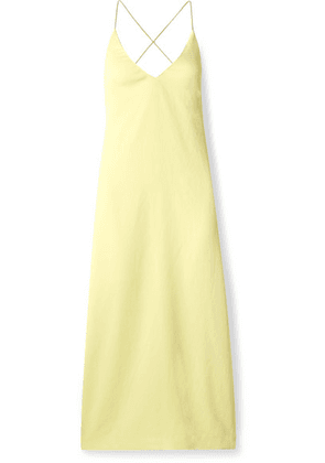 Dion Lee - Open-back Woven Midi Dress - Yellow