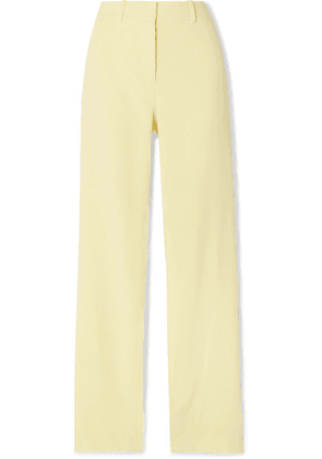 Dion Lee - Button-embellished Stretch-cady Pants - Pastel yellow