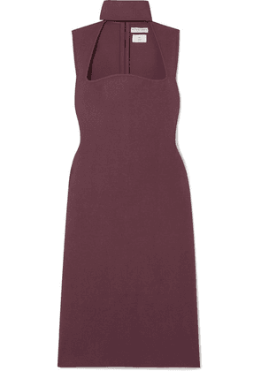 Bottega Veneta - Cutout Knitted Turtleneck Dress - Burgundy