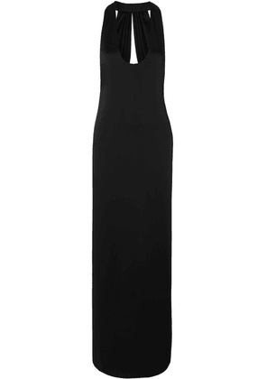 SAINT LAURENT - Open-back Satin Gown - Black