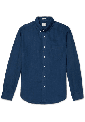 J.Crew - Slim-fit Button-down Collar Linen Shirt - Blue