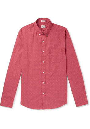 J.Crew - Slim-fit Button-down Printed Cotton Shirt - Red