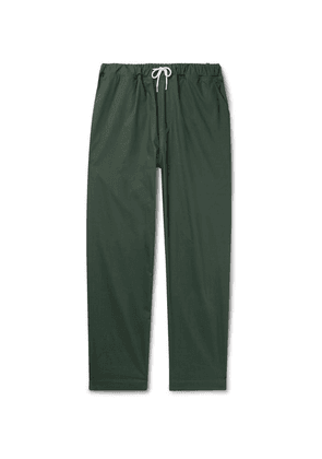Albam - Tapered Cotton-ripstop Drawstring Trousers - Green