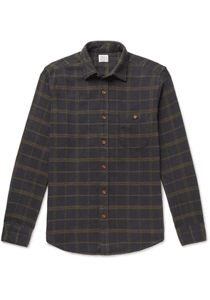 Faherty - Seaview Checked Cotton-blend Flannel Shirt - Green