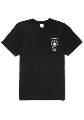 Blackmeans - Printed Cotton-jersey T-shirt - Black