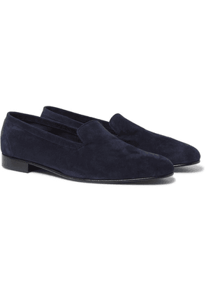 George Cleverley - Hedsor Suede Loafers - Navy