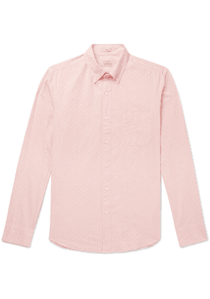 J.Crew - Button-down Collar Polka-dot Cotton-blend Shirt - Pink