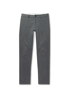 Freemans Sporting Club - Slim-fit Brushed Cotton-twill Trousers - Anthracite