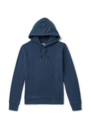 J.Crew - Garment-dyed Loopback Cotton-jersey Hoodie - Blue