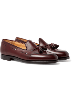 George Cleverley - Gabriel Leather Tasselled Loafers - Burgundy