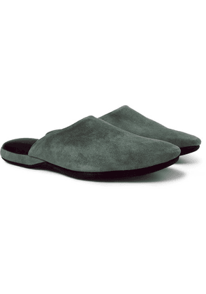 Charvet - Suede Slippers - Green