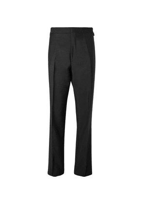 Maximilian Mogg - Black Faille-trimmed Mohair And Wool-blend Tuxedo Trousers - Black