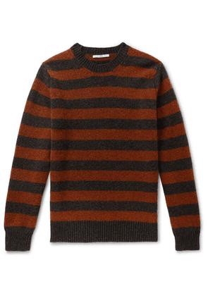Connolly - + Goodwood Striped Mélange Shetland Wool And Cashmere-blend Sweater - Red