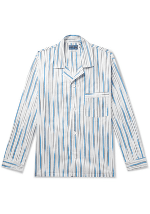 Blue Blue Japan - Camp-collar Striped Cotton-twill Shirt - Blue