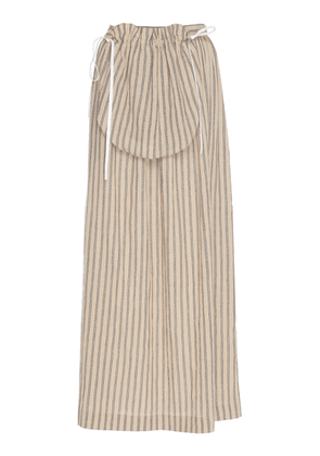 Loewe Striped Cotton-Poplin Midi Skirt Size: 36