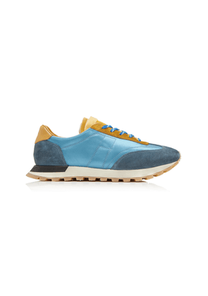 Maison Margiela Colorblocked Suede Low-Top Sneakers Size: 39