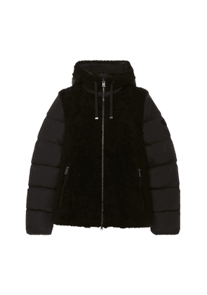 Bogner Sport Tizia Hooded Shearling and Shell Jacket Size: 6